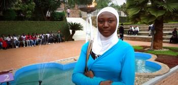 Hauwa Abubakar at the Kigali Memorial Centre