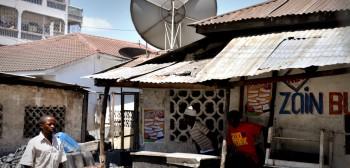 Satellite dish in Kenya