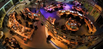 An Al Jazeera newsroom