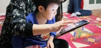 Child-on-iPad